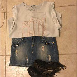 Vigos Gold  Jeans skirt